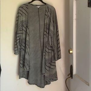 LLR Lindsay Kimono - black and white - sz Large